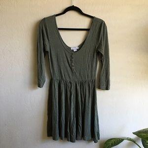 Cotton On Medium Olive Green Skater Dress A Line
